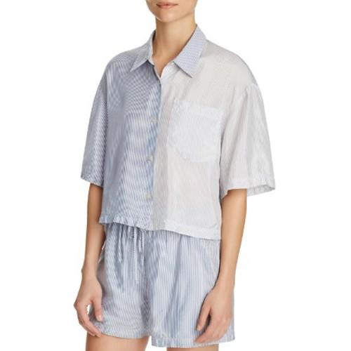 T BY ALEXANDER WANG Striped Button-Down Shirt