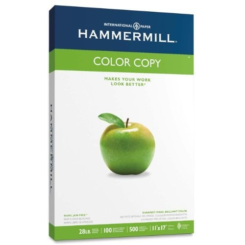 Hammermill - Color Copy/Laser Paper, Photo White, 100 Brightness, 28lb, 11 x 17, 500 Sheets - Pack of 10