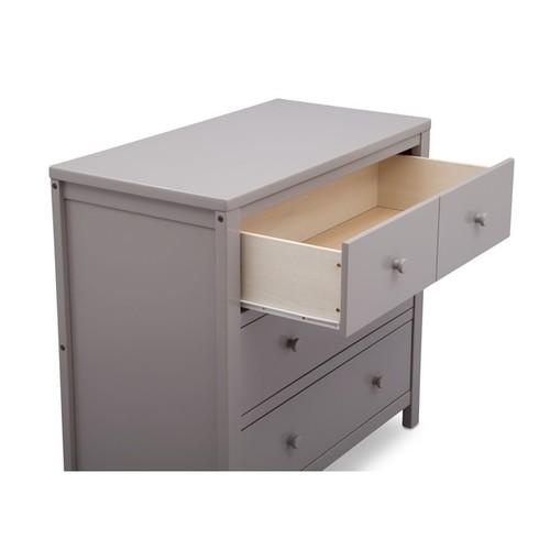 Delta Children Wood 3-drawer Dresser [option : White - White Finish]