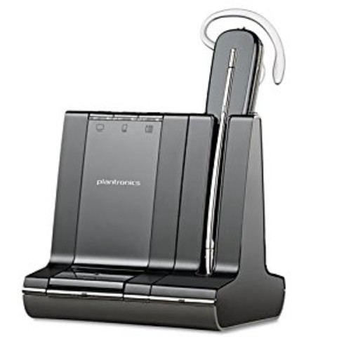 Plantronics Savi 740 Wireless Headset System for Unified Communication [Black, Standard Packaging]