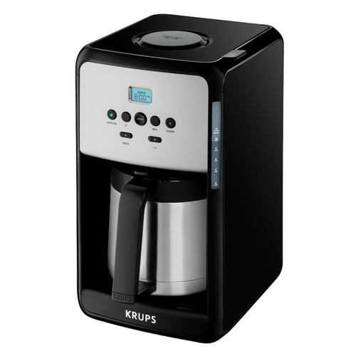 Krups 12-Cup Savoy Programmable Black Thermal Coffee Maker