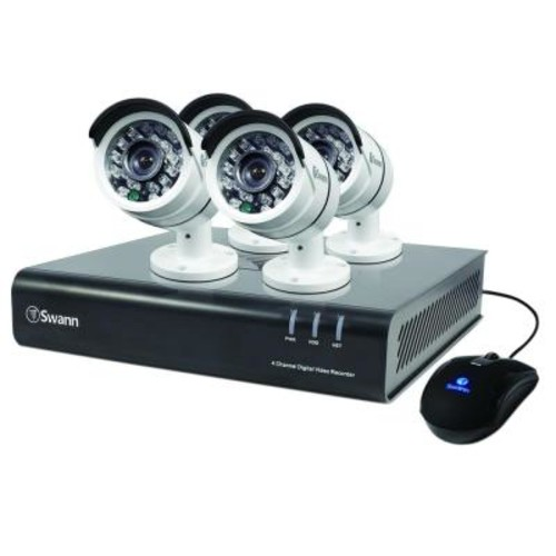 Swann 4500 Series 4-Channel TVI 1080p DVR with 500 GB and 4 x Bullet White Cameras