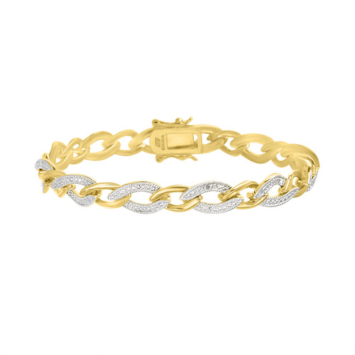 Diamond Accent Curb Bracelet
