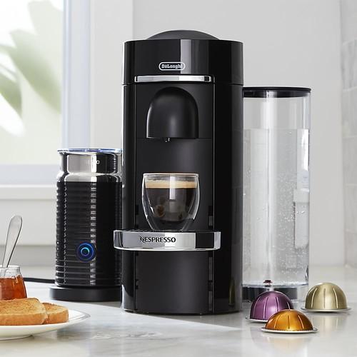 Nespresso  by Delonghi Vertuo Deluxe Plus Black Coffee Maker Bundle