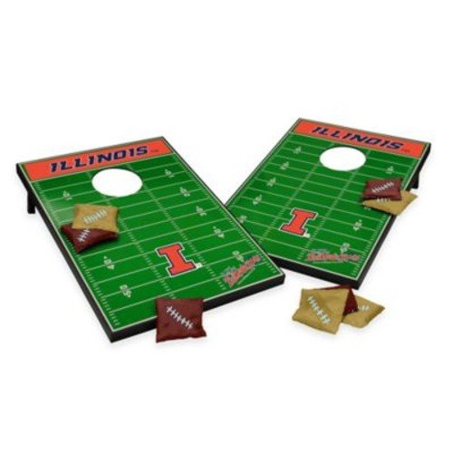 NCAA University of Illinois Field Tailgate Toss Cornhole Game
