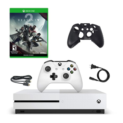 Xbox One S 500GB Console with Destiny 2 and Silicone Sleeve