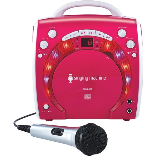 Singing Machine - CD+G Portable Karaoke System - Pink