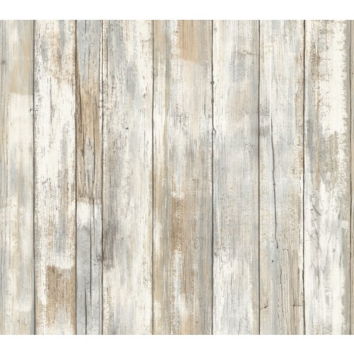 RoomMates Distressed Wood Peel \u0026 Stick Wall Decor