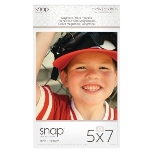 Snap 5x7 Magnetic Photo Pocket Frames, 2pk