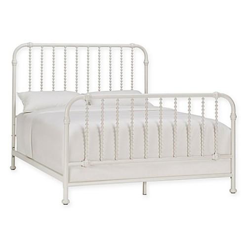 Mavis Wavy Full Spindle Metal Bed in White