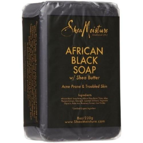 Shea Moisture African Black Soap 8 oz (Pack of 6)