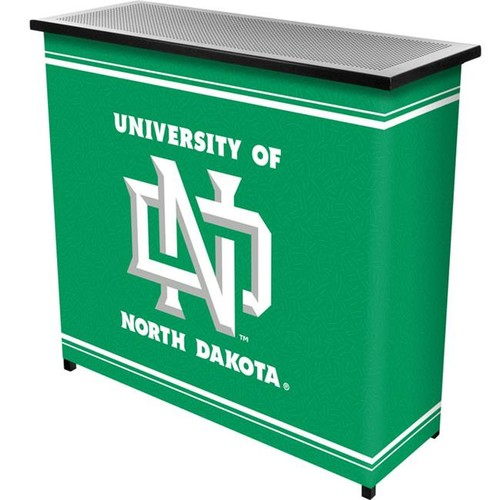 Trademark Poker LRG8000-ND University of North DakotaT 2 Shelf Portable Bar with Case