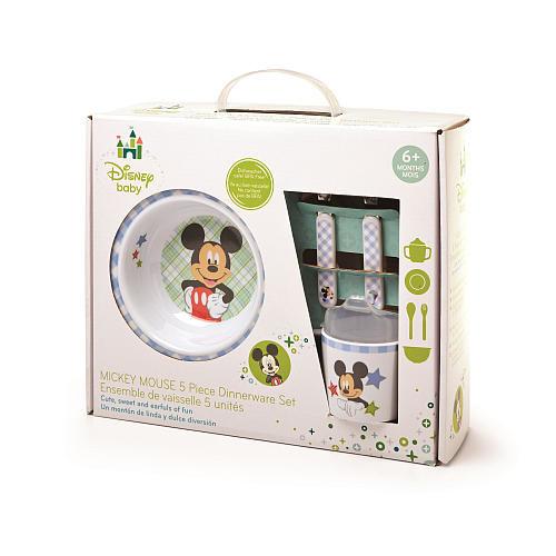 Mickey Mouse 5 Piece Melamine Set - Boys