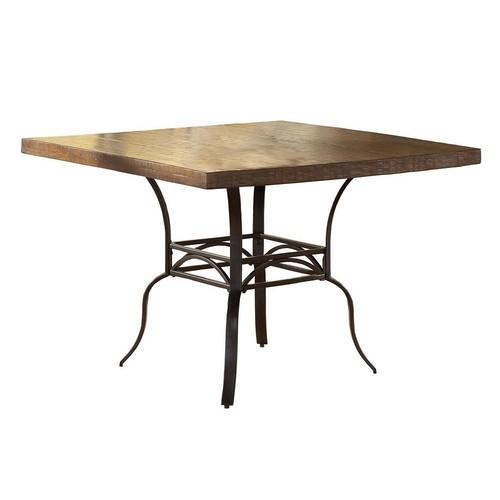 Hillsdale Granada Square Dining Table in Dark Chestnut/Brown