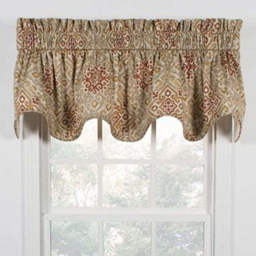 Miramar Window Valance in Honey Beige