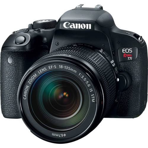 Canon 1894C003-kit-97308 EOS Rebel T7i Camera + EF-S 18-135 IS STM Lens + 75-300 Lens + 64GB Card + Backpack + Battery + Charger