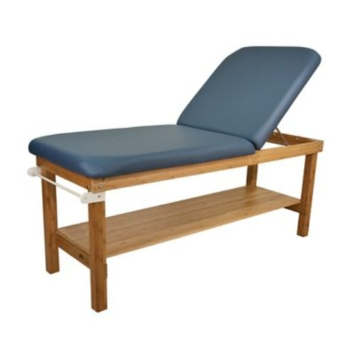 Oakworks 27'' W Powerline Treatment Table w/ Backrest; Blue Grass