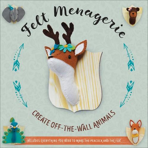 Becker & Mayer Felt Menagerie Kit-10 Stuffed Animal Projects