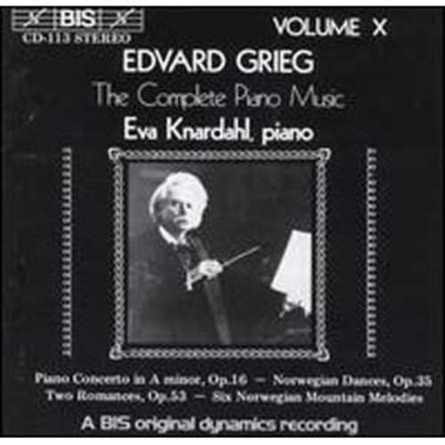 Grieg: The Complete Piano Music, Vol. 10 By Eva Knardahl (Audio CD)