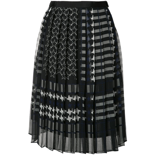 SACAI Printed Pleat Skirt