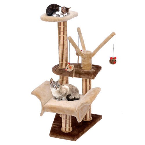 Cat Life Lounger with Play Tree and Climbing Tower