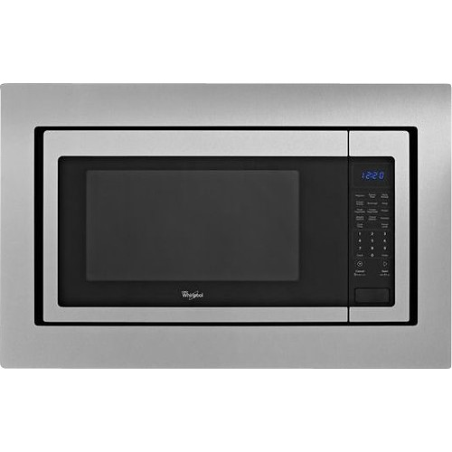 Whirlpool 2.2 cu. Ft. Countertop Microwave in Stainless Steel, Built-In Capable with Sensor Cooking WMC50522AS