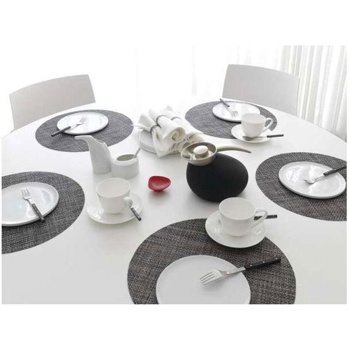 Basketweave Round Placemats in Multiple Colors design by Chilewich - Aluminum