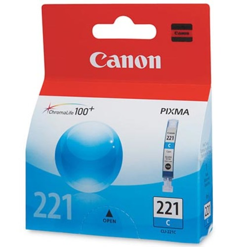 Canon Pixma CLI-221 Series Cyan Replacement Printer Ink Cartridge
