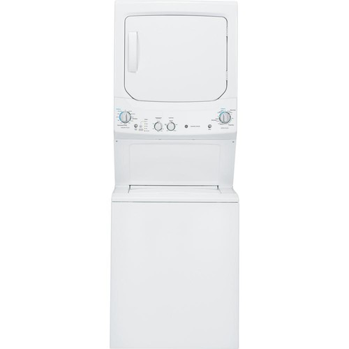 GE White Laundry Center with 3.8 cu. ft. Washer and 5.9 cu. ft. 240-Volt Vented Electric Dryer