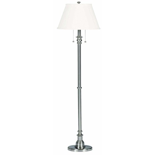 Kenroy Home 30438BS Spyglass Floor Lamp, Brushed Steel [Bronze]