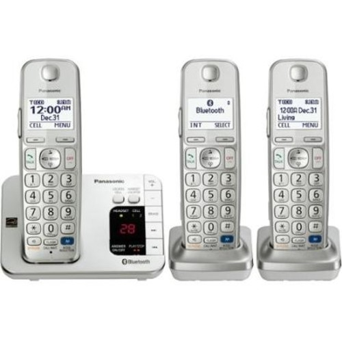 Panasonic KX-TGE263S Link2Cell Expandable Cordless Phone w/ 3 Handsets