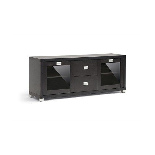 Baxton Studios Foley Dark Brown Modern TV Stand