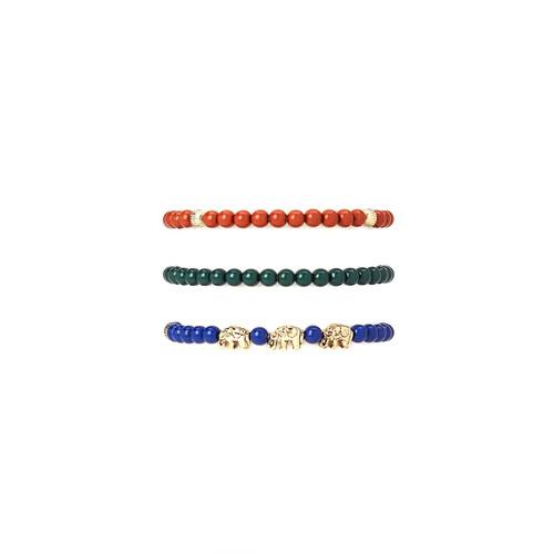 Beaded Elephant Bracelet Set