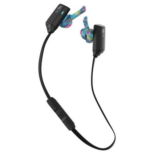 Skullcandy XT Free Wireless Bluetooth In-Ear Headphones with Microphone - Black Swirl