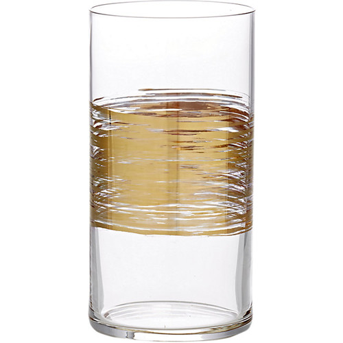 Marc Blackwell Brushstroke Equator Gold Tall Tumbler