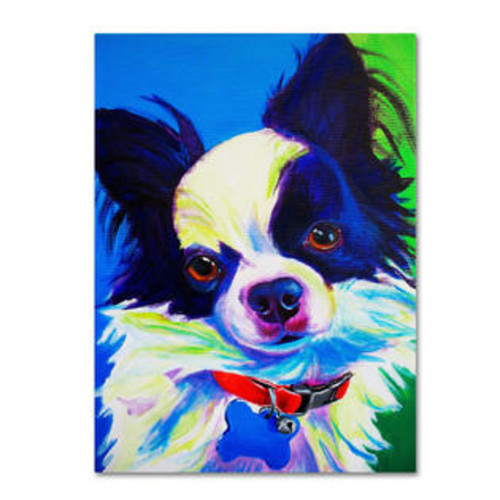 Trademark Global Esso Gomez by DawgArt Painting Print Gallery Wrapped on Canvas Size: 24
