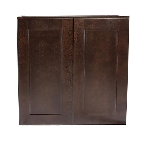Design House Brookings Fully Assembled 27x24x12 in. Kitchen Wall Cabinet in Espresso