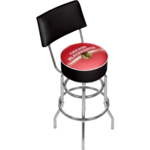Trademark Games Chicago Blackhawks Padded Swivel Bar Stool with Back