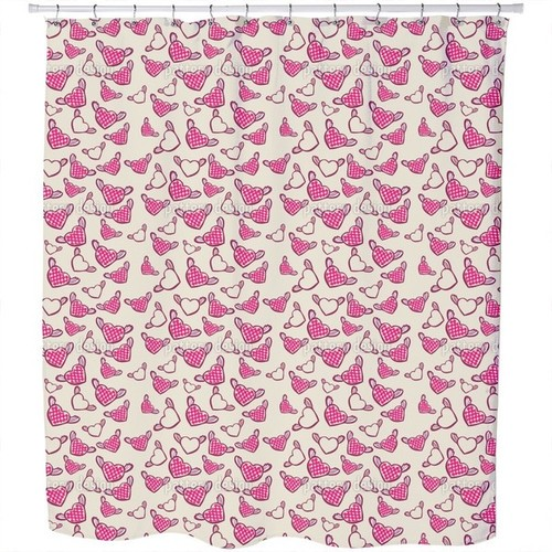 Sweet Chess Master Hearts Shower Curtain