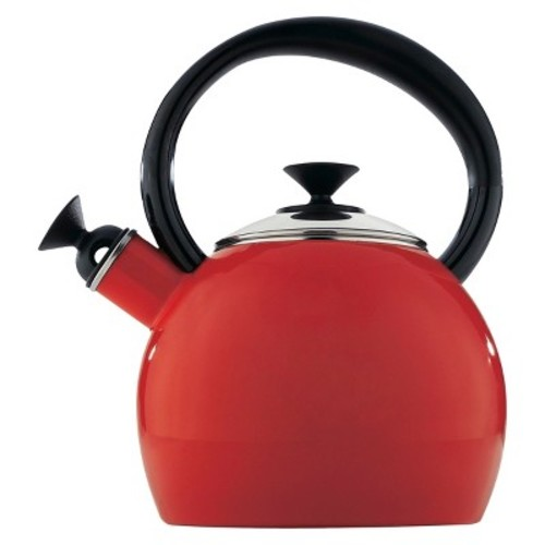 Copco 1.35 Qt. Porcelain Enamel Camden Tea Kettle - Red