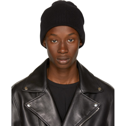RAG & BONE Black Cashmere Ace Beanie