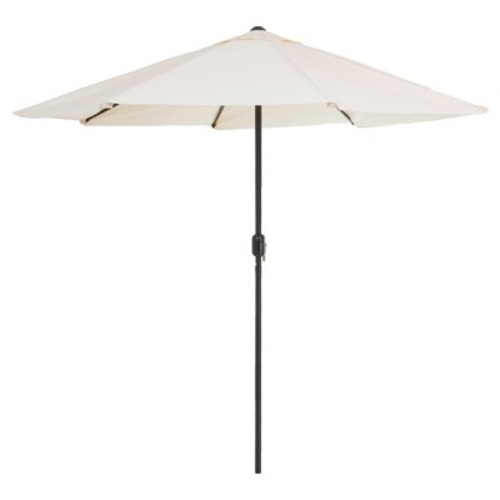 Pure Garden 9 ft. Aluminum Patio Umbrella with Auto Crank in Tan