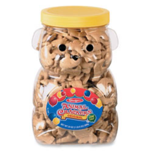 Stauffer's Bear Jug With Animal Crackers, 24 Oz Jar