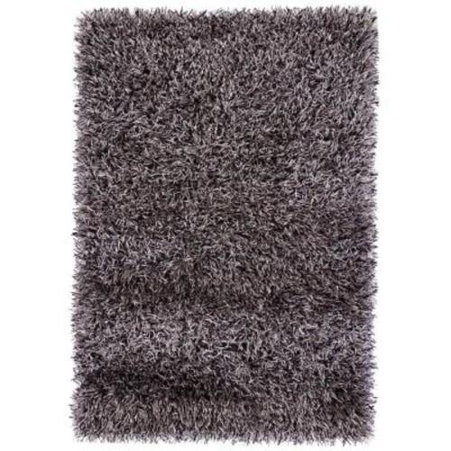 Chandra Iris Grey/Black 7 ft. 9 in. x 10 ft. 6 in. Indoor Area Rug