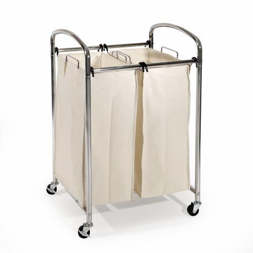 Seville Classics Chrome 2-bag Laundry Sorter