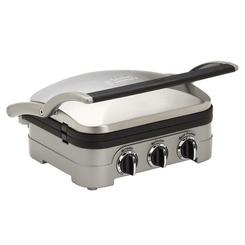Cuisinart GR-4N 5-in-1 Griddler W/ Waffle Plates (Refurbished)