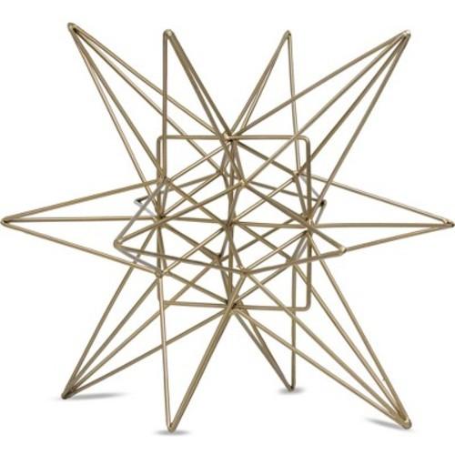 Star Figurine Metal Tabletop Dcor In Steel Finish - Gold (7.28