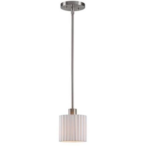 Kenroy Home Grace 1 Light Mini Pendant Brushed Steel Finish (93647BS)