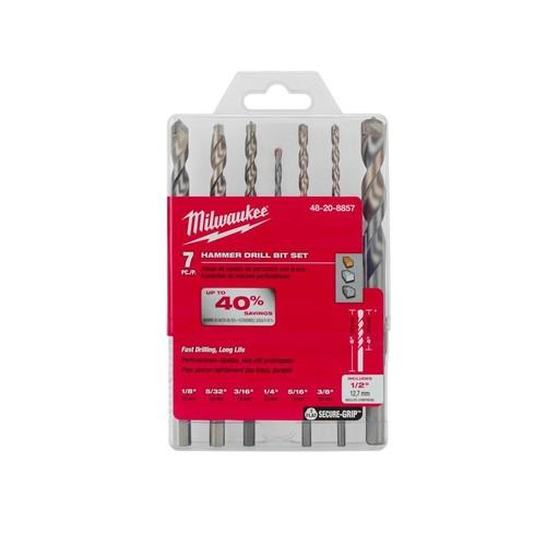 Milwaukee Carbide Hammer Drill Bit Kit (7-Piece)