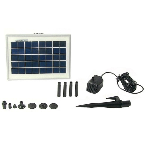 Sunnydaze Solar Pump & Solar Panel Kit With 6 Spray Heads 79 GPH 47